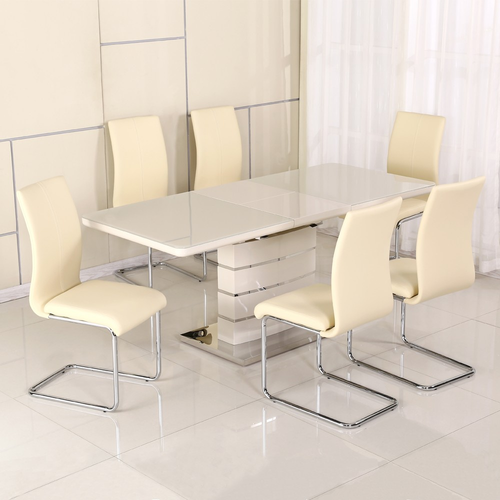 DT-9123-1 Cheap White Extension Dining Room Chair